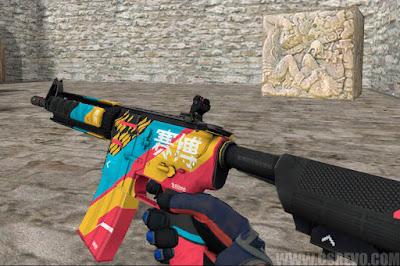 Skin M4A4 - Cyber Security (CS:GO) - HD para CS 1.6