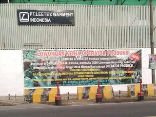 Loker PT Leetex Garment Indonesia terbaru tahun 2020