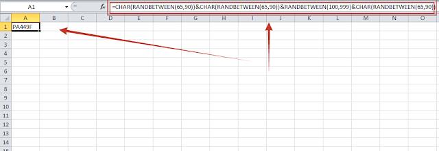 Membuat Banyak Password di Excel