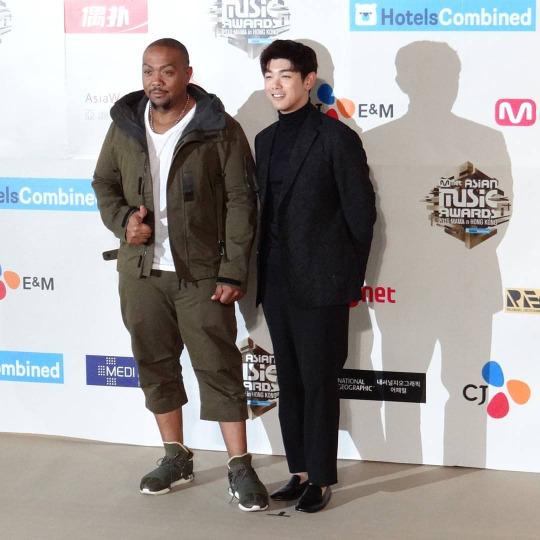 Timbaland & Eric Nam At The Red Carpet