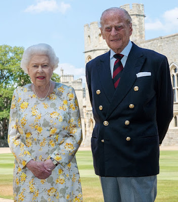 prince philip and wife queen elizabeth portrait