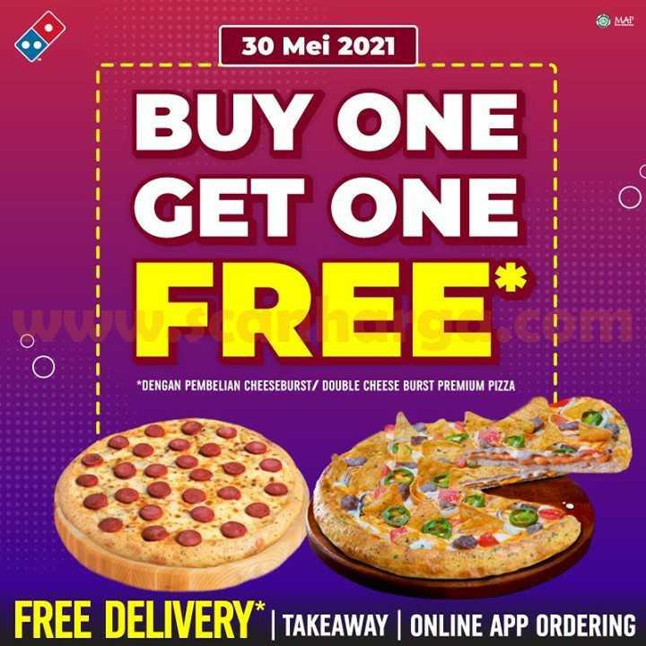 Promo Dominos Pizza Beli 1 Gratis 1 Periode 30 Mei 2021