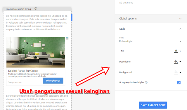 Cara Memasang In Feed Ads dan In Article Ads