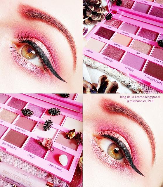 paletka očných tieňov Makeup Revolution London I Heart Revolution Chocolate Cherry recenzia