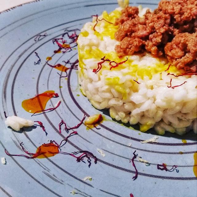 Ricette Stellate / Risotto con luganega capperi e limone
