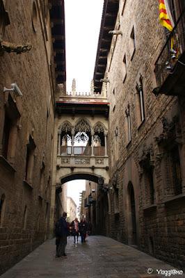 Via medievale del quartiere gotico