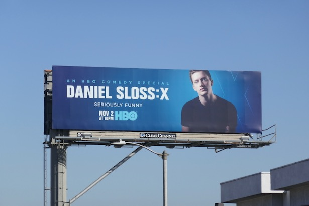 Daniel Sloss X HBO billboard