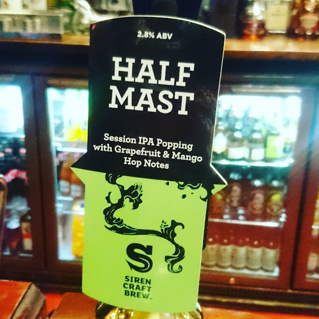 London Craft Beer Review: Half Mast from Siren Craft Brew real ale pump clip
