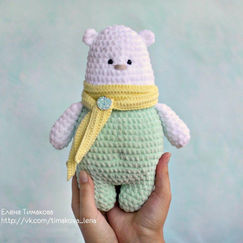Polar bear and friend amigurumi pattern - Amigurumipatterns.net | 1000x1000