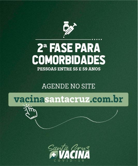 Santa Cruz dá início a segunda fase da vacinação contra covid-19 em pessoas com comorbidades