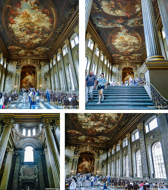 Painted Hall, salão nobre do Royal Naval College, em Greenwich, Londres