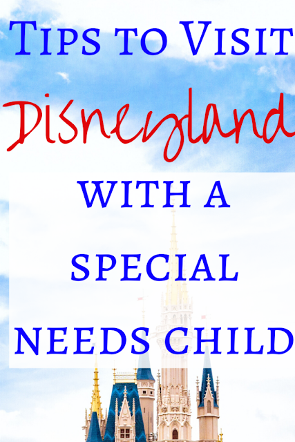 Pinterest image for tips on how to visit disneyland with a special needs child