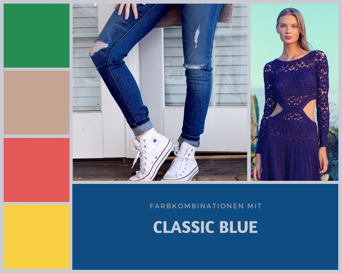 Pantone Farbe des Jahres 2020 - Classic Blue - Tipps & Ideen Mode Outfits Farbkombinationen