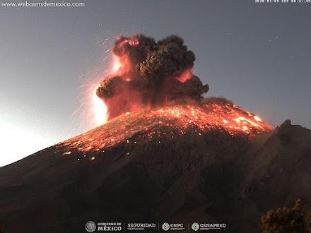 Έκρηξη ηφαιστείου στο Μεξικό - Video