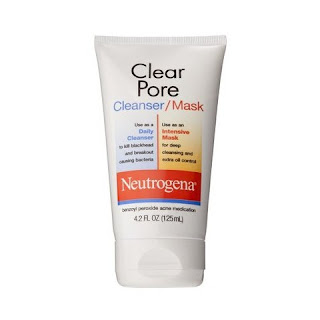Neutrogena Clear Pore Cleanser/Mask benzoyl peroxide for acne