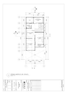 denah lantai dua untuk gambar rumah 2 lantai 6x14 (4)