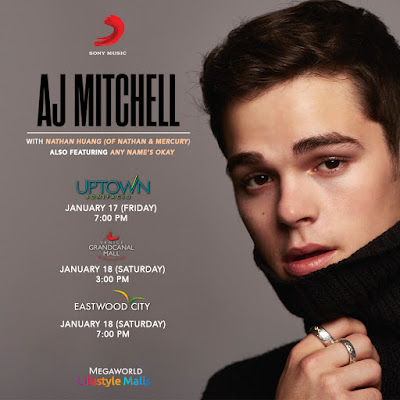 Gather all your friends for AJ Mitchell's Manila mall shows!