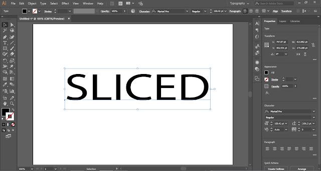 Sliced Text Effect in Adobe Illustrator