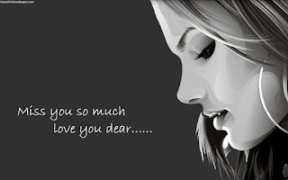 miss you so much love you dear with beautiful girl face