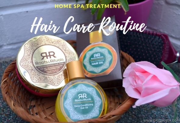 hair care routine with roots and rituals