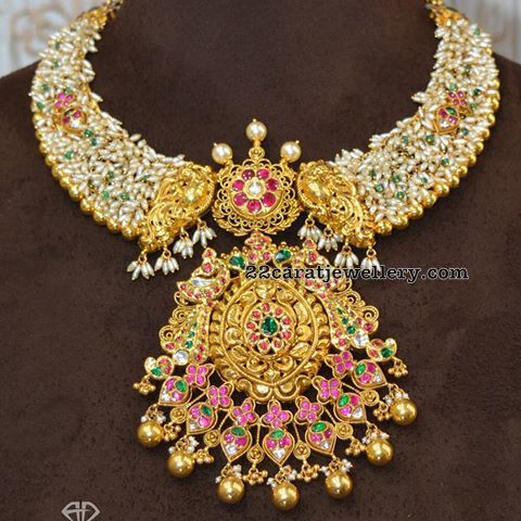 Rice Pearls Necklae with Pendant