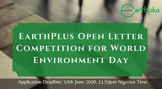 EarthPlus Open Letter Writing Competition for World Environment Day 2020