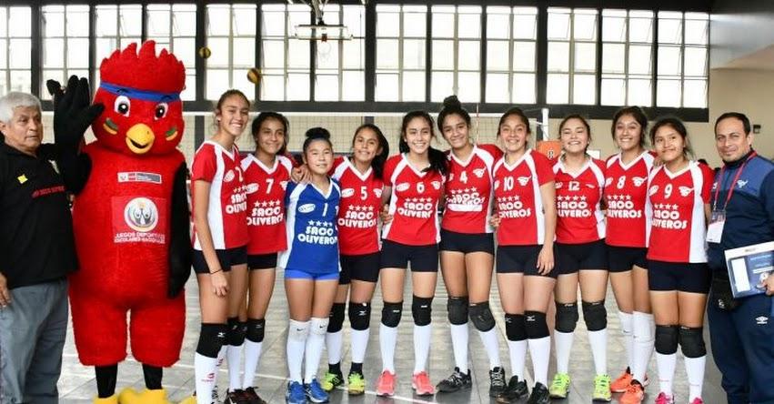 Perú buscará coronarse pentacampeón en vóley en los XXIV Juegos Sudamericanos Escolares 2018