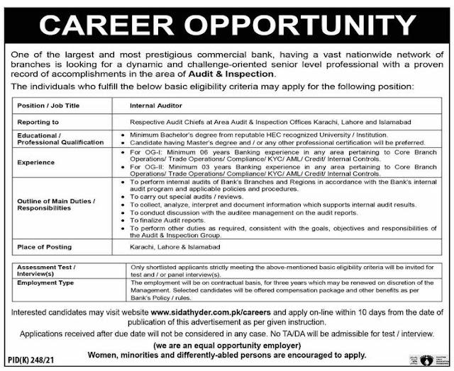 National Bank Of Pakistan NBP Jobs 2021