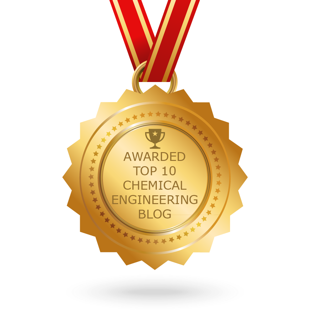 Awarded Top 10 Chemical Engineering Blog