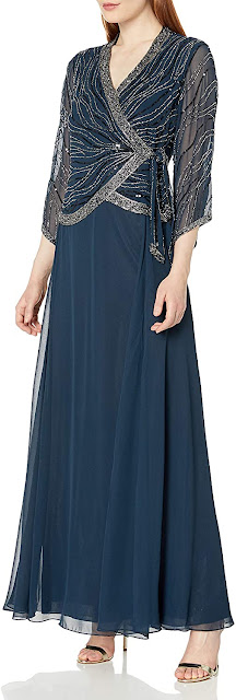 Graceful Navy Blue Mother of The Groom Dresses