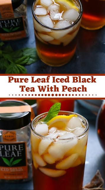 Pure Leaf Iced Black Tea With Peach #drinks #desserts
