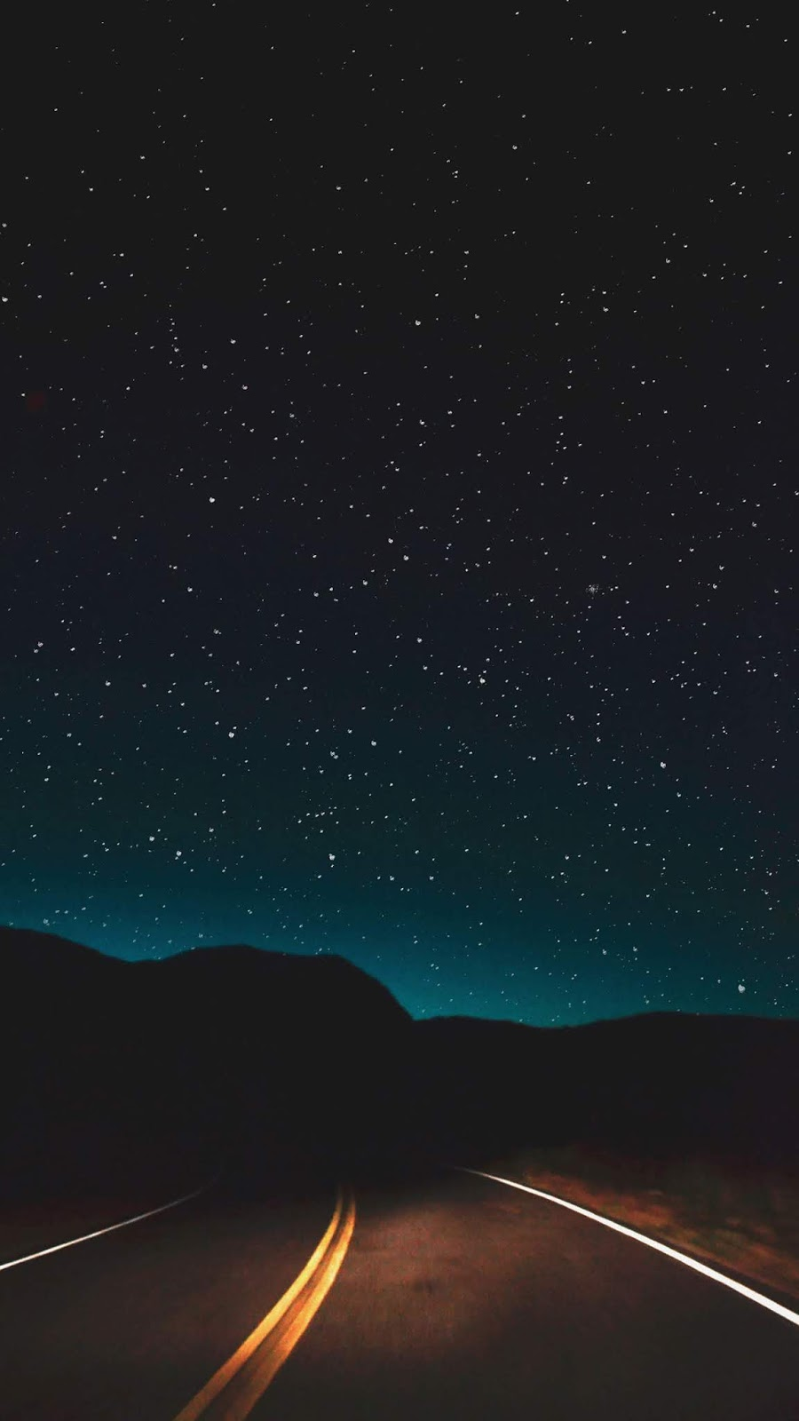 Road in the night sky