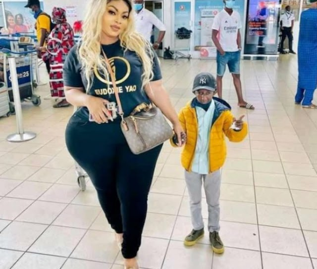 popular Ivorian socialite Eudoxie Yao and Guinean artist Grand P cut off their relationship: see what happen.
