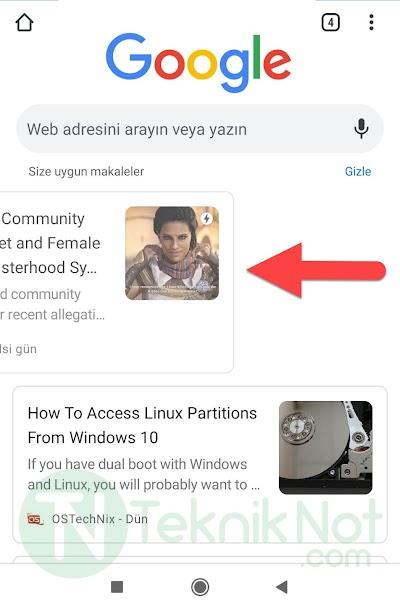 Chrome Haberleri Kaydırma Çalışmıyor Çözümü