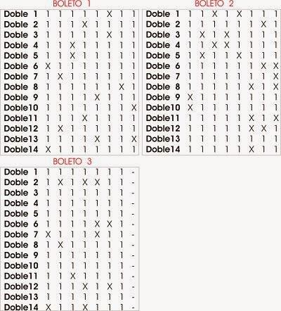 Combinacion Condicionada de 14 Dobles