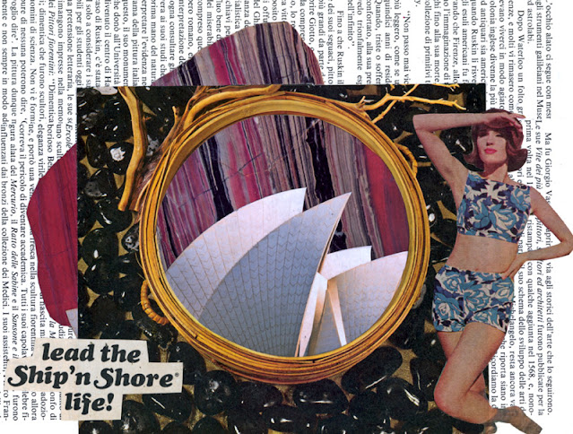 Wasnow collage for Paris Collage Collective