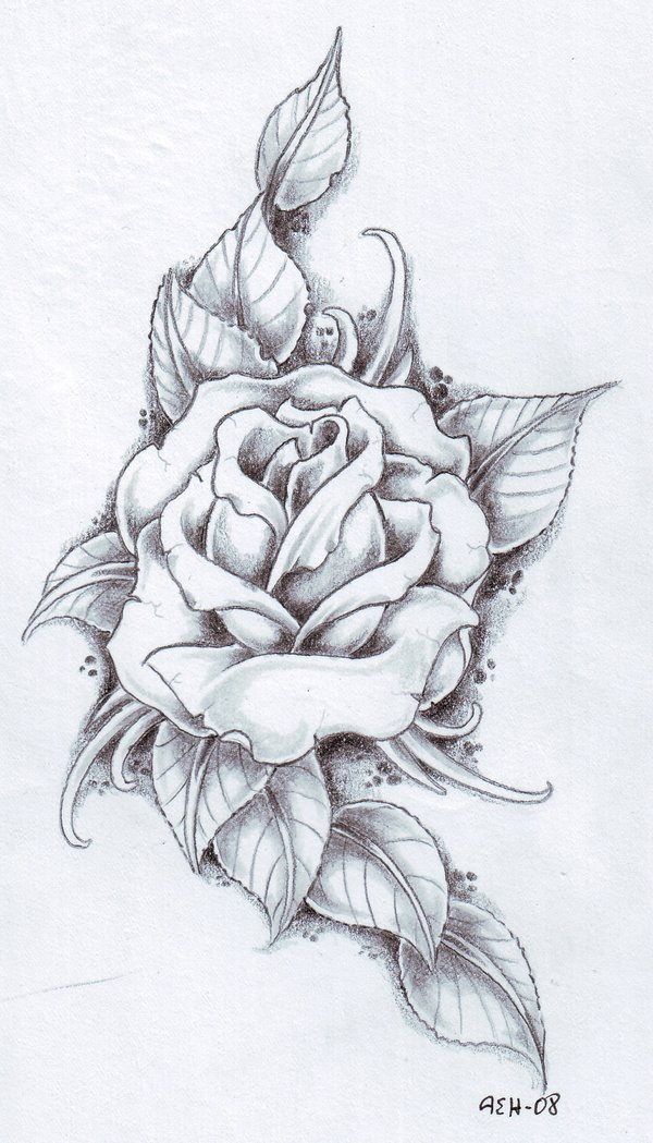 flower tattoos collections black rose tattoo designs. Black Bedroom Furniture Sets. Home Design Ideas