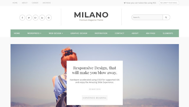 Milano Premium blogger template
