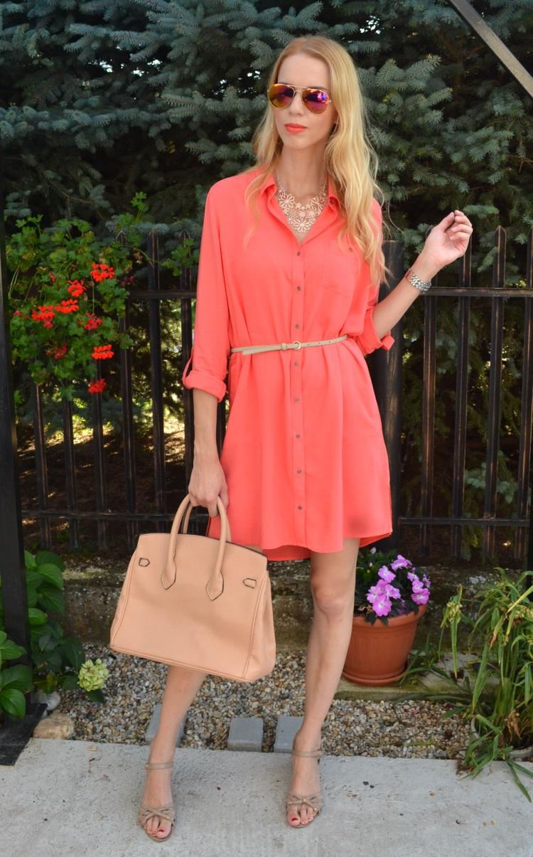 22d4572f0322 Outfit  Košeľové šaty - Blogerky.cz