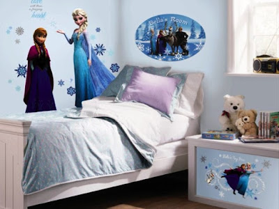 Contoh Kamar Anak Perempuan Tema Frozen