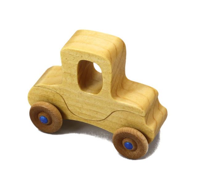Handmade Wooden Toy Car Itty Bitty Mini Vintage Model-T Play Pal Pocket Car Size