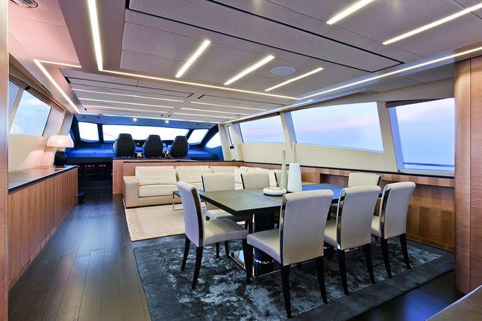 Pershing 108 Luxury Yacht interior design
