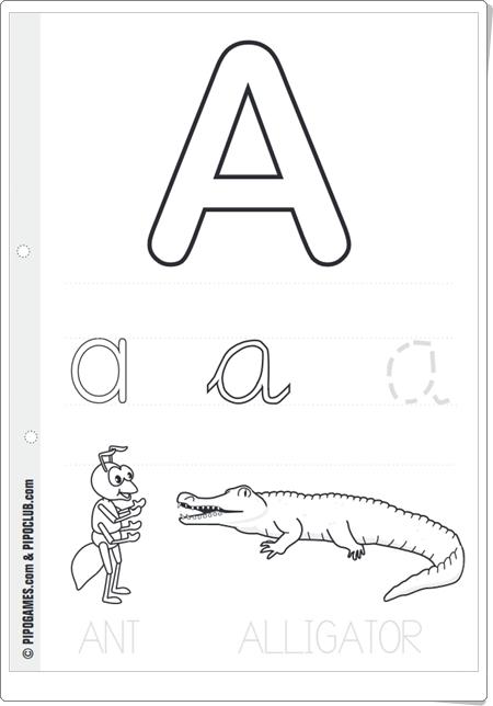 """Alphabet de Pipo"" (Cuadernillo de abecedario con vocabulario en Inglés)"