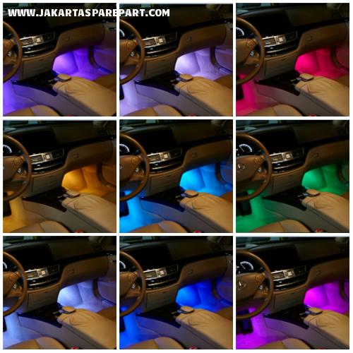lampu kolong multi color LED Foot Well Light