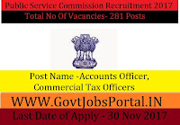 Public Service Commission Recruitment 2017