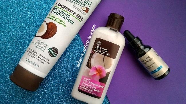Haul de iHerb - productos para cabello con aceite de coco