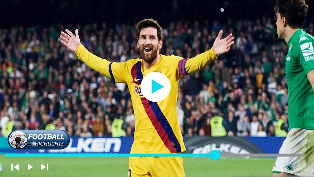 Real Betis vs Barcelona – Highlights