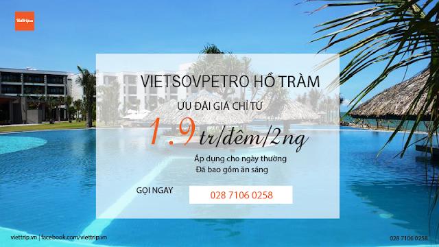 Vietsovpetro hồ tràm khuyến mãi