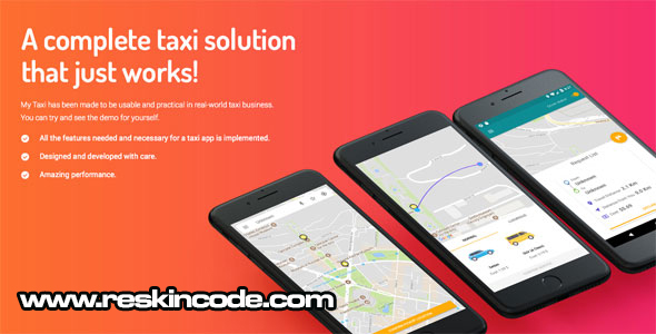 Taxi application Android solution with dashboard  Codecanyon