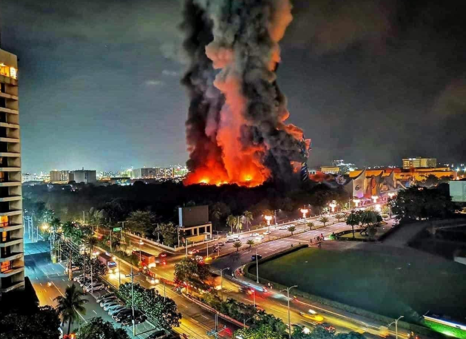 Huge fire hits Star City